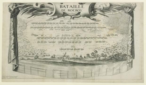 Схема битвы при Рокруа.