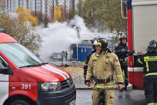 Газовая подстанция загорелась на юго-западе Москвы