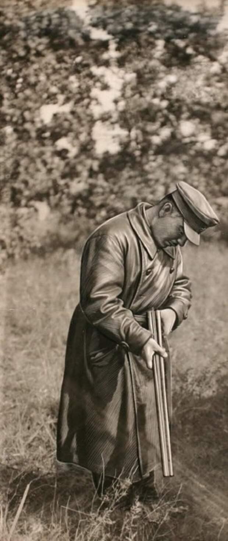 Климент Ефремович Ворошилов на охоте в Подмосковье. СССР, 1930-е годы.