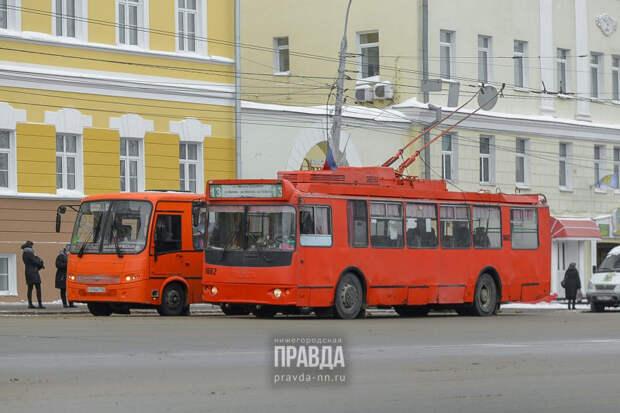 Трамваи и троллейбусы в Нижнем Новгороде перешли на расписание выходного дня
