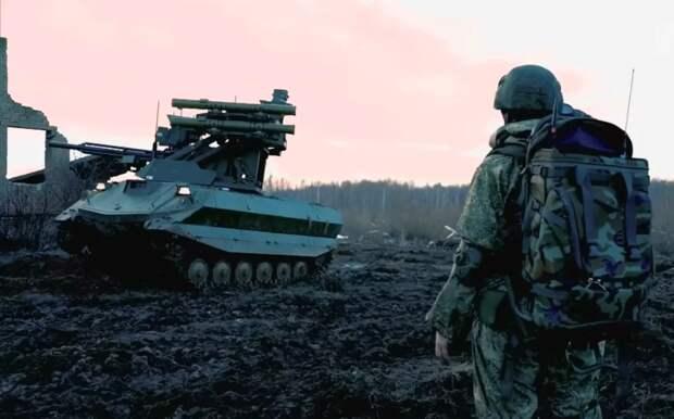 Чем китайских экспертов впечатлил российский робот из будущего «Уран-9»