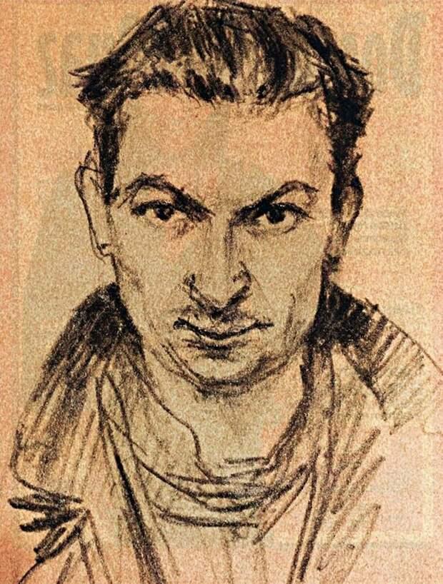 Георгий Вицин. Автопортрет, конец 1930-х гг.
