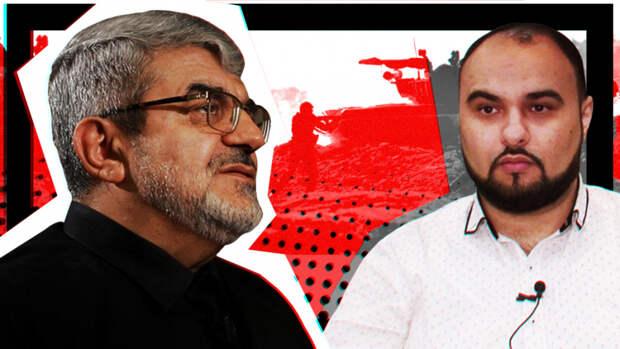 Рагим Нойе Егдам и корреспондент ПЭ Хаял Муаззин