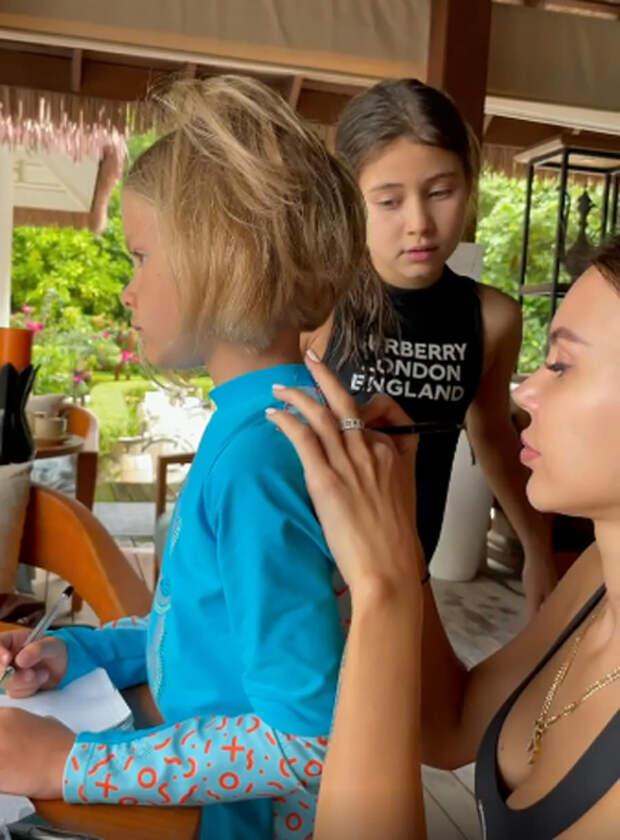 Джиган и Оксана Самойлова с детьми отдыхают на Мальдивах вместе с семьей Тимати