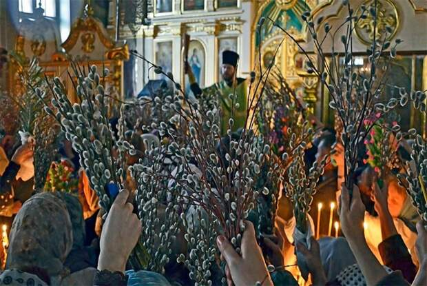 Наступает вербное воскресенье