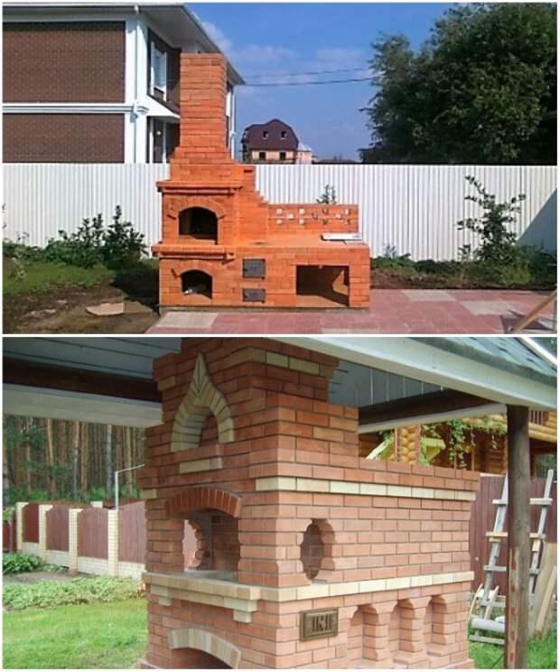 Чтобы пользоваться уличной печкой в любую погоду нужно сделать крышу. | Фото: ogon.guru/ 2proraba.com.