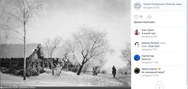Фото дня: деревня Братцево в зимнем убранстве