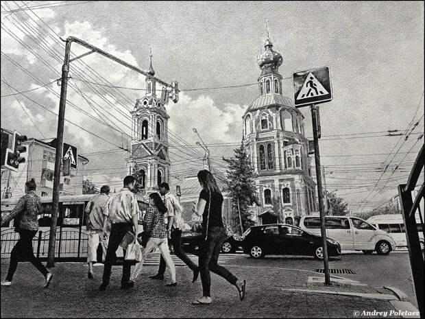 Фотореалистичная живопись шариковой ручкой от Андрея Полетаева - 18