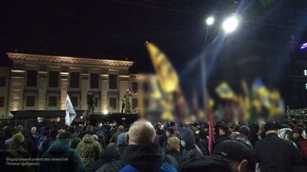 В Москве отреагировали на обстрел националистами посольства РФ в Киеве