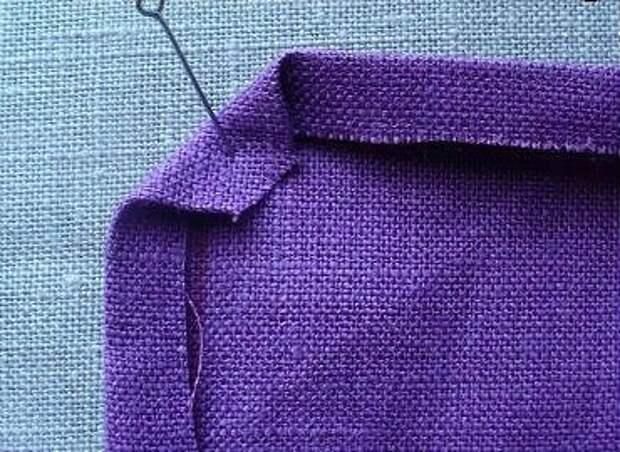 Обработка срезов ткани под прямым углом