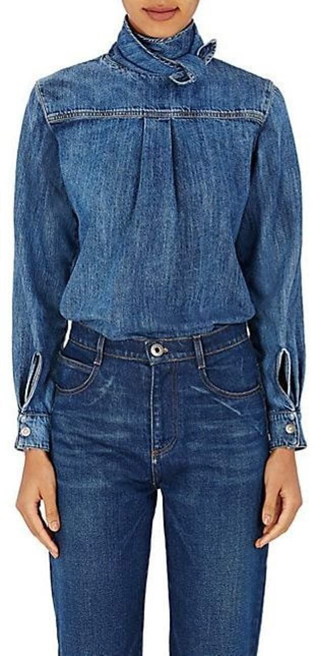 Джинсовые блузки детали (подборка)