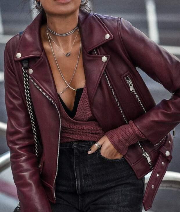 Трендовые кожаные куртки на весну 2021. Обзор актуальных моделей