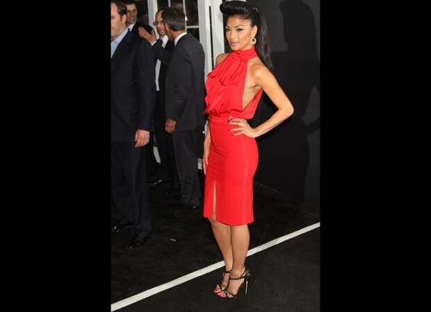 Nicole Scherzinger red dress