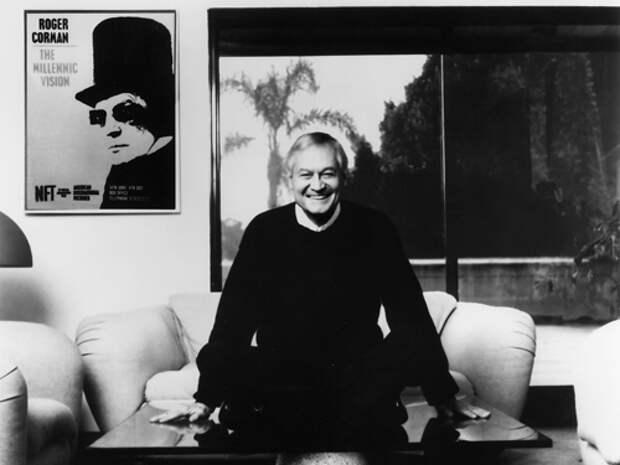 Роджер Корман в своем кабинете