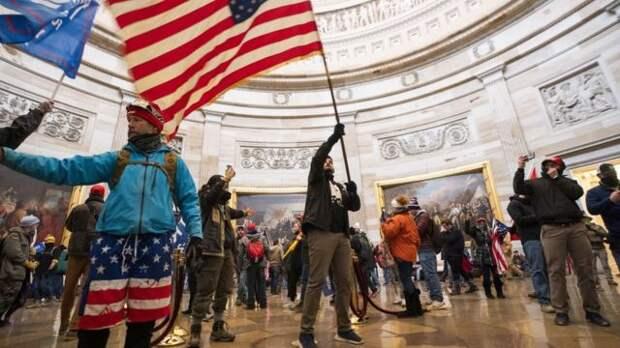 Протестующие в Капитолии
