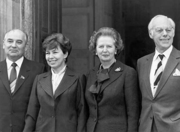 Визит четы Горбачевых в Великобританию 1989   Фото: materiality.info