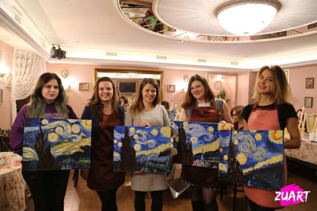арт-вечеринки в студии живописи ZuART