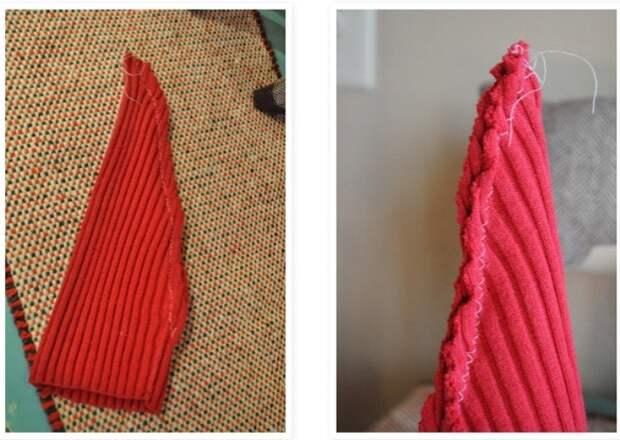 Как сделать эко-елку из старого свитера: пошаговая инструкция.