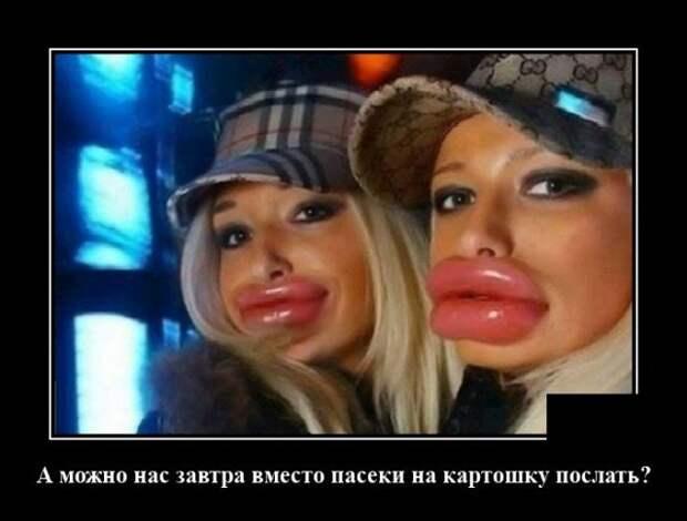 Демотиватор про губы