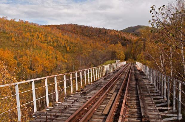 Сахалин. Полузаброшенная железная дорога эпохи Карафуто