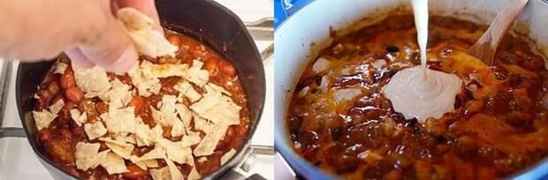 17. Секрет приготовления густого чили  кулинария, повар от бога, приготовление еды, секреты, хитрости на кухне.