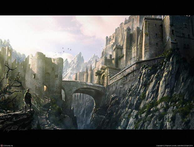 Красивые фантазийные картины, показывающие необычные миры