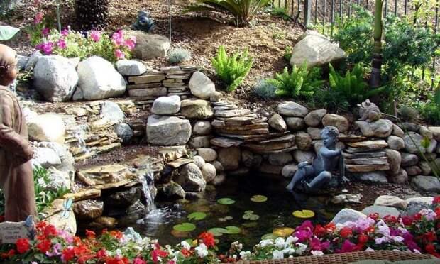 Делаем водопад в саду своими руками