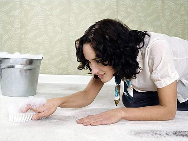 Как удалить запах мочи на ковре