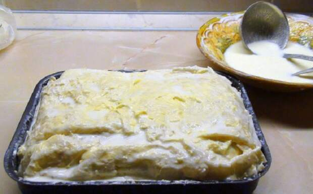 Ачма из лаваша: нежнейший сырно-творожный пирог