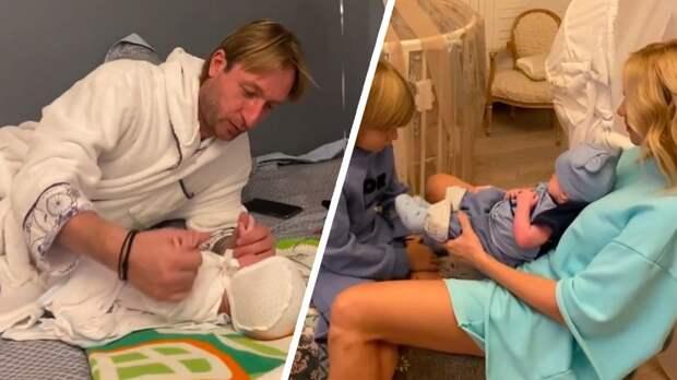 Плющенко и Рудковская объяснили, почему назвали ребенка Арсением