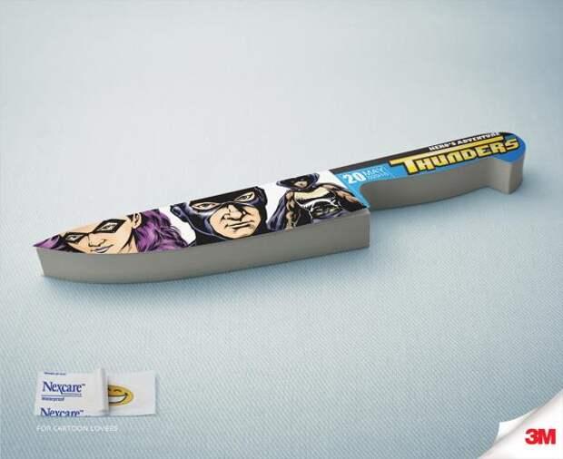 Paper Cut, Hero, Nexcare, Grey Group Hong Kong , 3M Company, Печатная реклама
