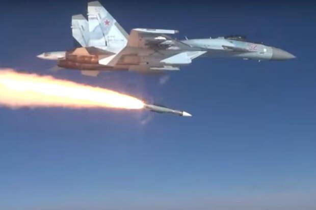 Пуск ракеты Р-37М истребителем Су-35С впервые показали на видео