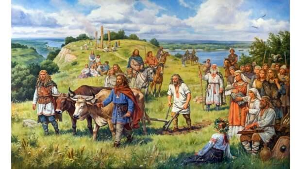 Южные славяне после появления тяжелого плуга успешно обрабатывали черноземные земли и быстро увеличивали численность