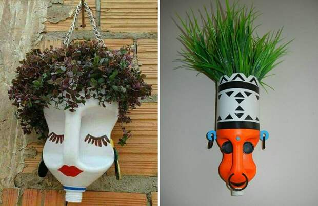 настенные вазы-лица