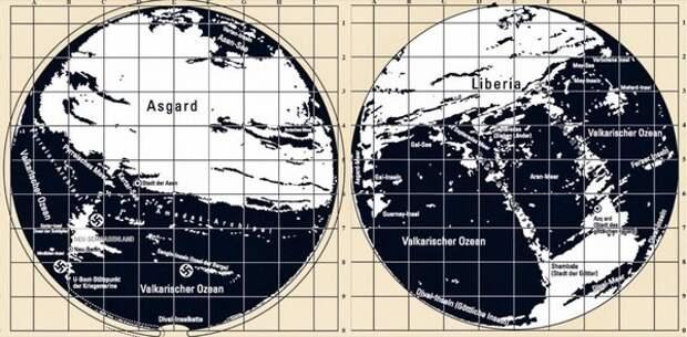 Карты пустой Земли Третьего Рейха