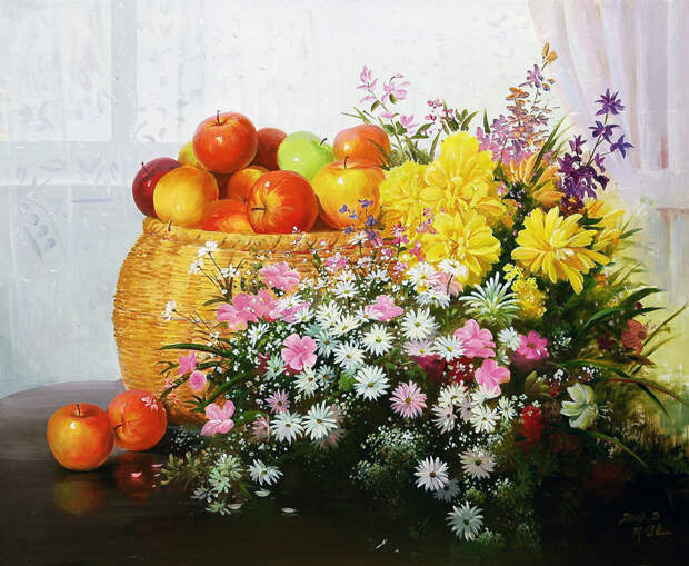 Прекрасные цветы от корейского художника Sung Lee