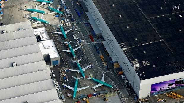 Самолеты Boeing 737 MAX, заводBoeing в Рентоне, штат Вашингтон