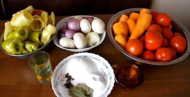 помидоры с болгарским перцем салат на зиму