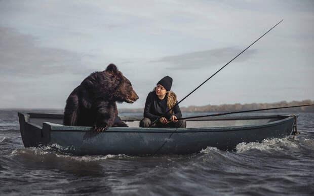 С медведем на рыбалке