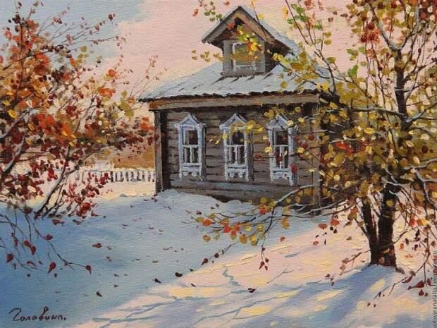 Художник Наталья Головина. На рассвете туман золотой…