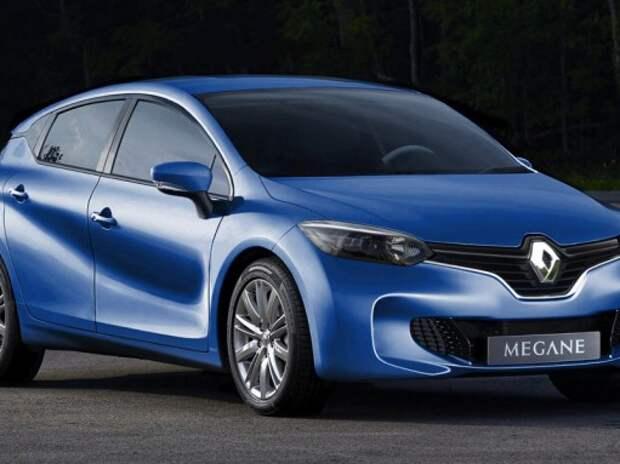 Появился первый рендер нового Renault Megane
