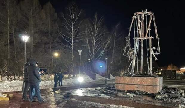 Сгоревший вТатарстане памятник Воину-освободителю сделают негорючим