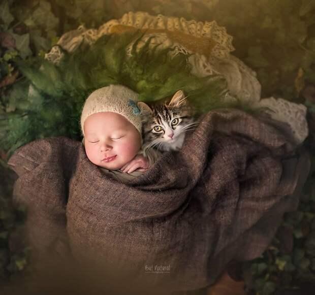 Фантастические снимки детишек и животных. Само очарование!