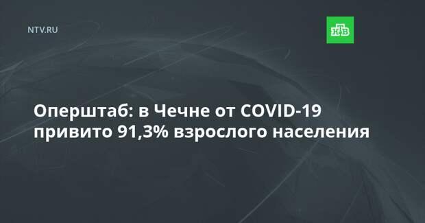 Оперштаб: в Чечне от COVID-19 привито 91,3% взрослого населения