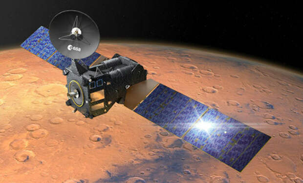 Забыли на Марсе космический корабль