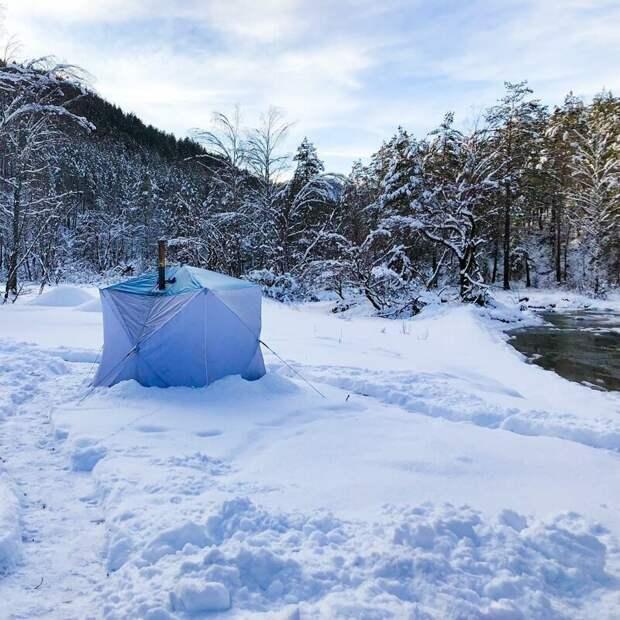 Долина реки Узнезя (Алтай). альпинизм, горы, зима, палатка, пейзаж, рассвет, снег, туризм