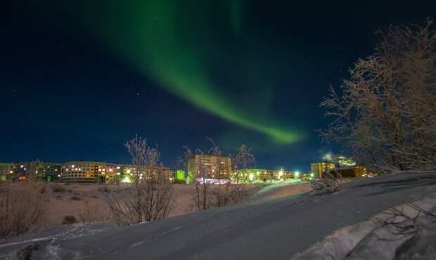 Зимняя красота-22. Северное сияние в России