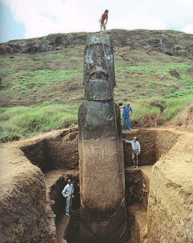 Что скрыто под головами на острове Пасхи  и кто первым раскрыл этот секрет