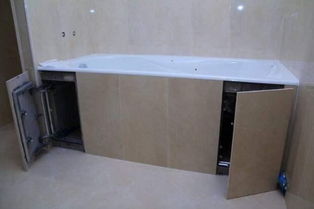 Защитный экран под ванну своими руками