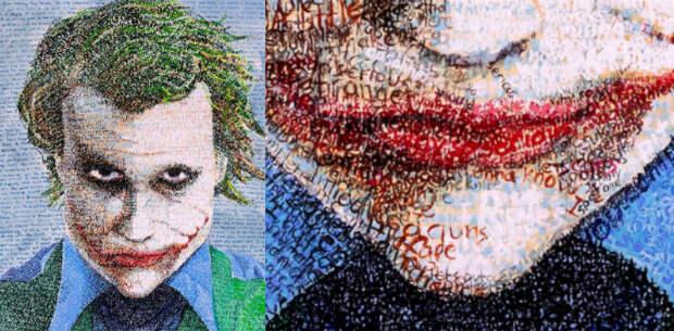 Присмотритесь получше: художник пишет картины с помощью тысячи букв